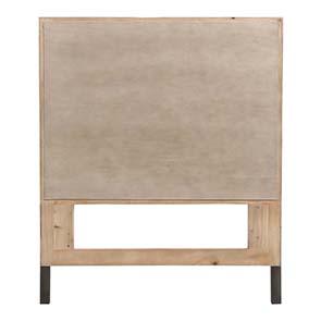 Tête de lit 90 industrielle en bois recyclé - Empreintes - Visuel n°7