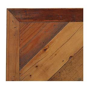 Tête de lit 160 industrielle en bois recyclé ambré - Empreintes