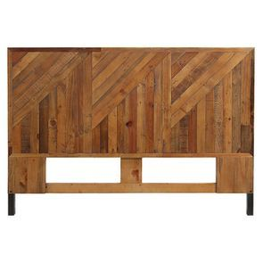 Tête de lit 140/160 cm industrielle en bois recyclé ambré - Empreintes