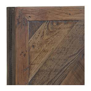 Tête de lit 160 industrielle en bois recyclé - Empreintes - Visuel n°3