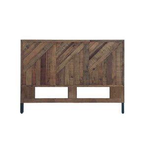 Tête de lit 160 industrielle en bois recyclé - Empreintes