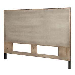 Tête de lit 160 industrielle en bois recyclé - Empreintes - Visuel n°6