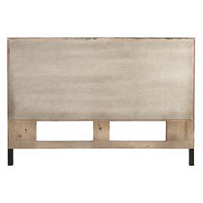 Tête de lit 160 industrielle en bois recyclé - Empreintes - Visuel n°4