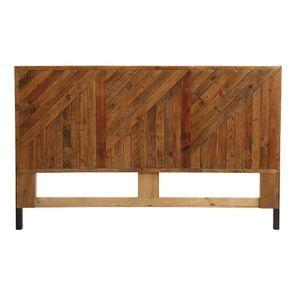 Tête de lit 180 industrielle en bois recyclé ambré - Empreintes
