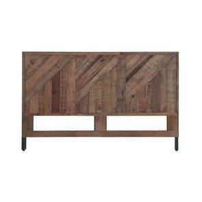 Tête de lit 180 industrielle en bois recyclé - Empreintes