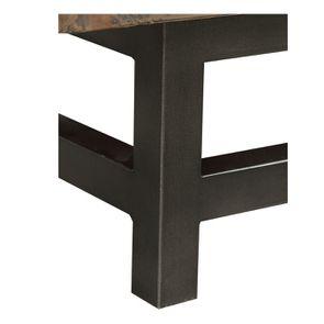 Meuble TV industriel en bois recyclé naturel gris 1 tiroir - Empreintes - Visuel n°10