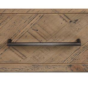 Meuble TV industriel en bois recyclé naturel gris 1 tiroir - Empreintes - Visuel n°16