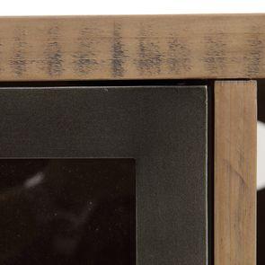 Meuble TV industriel en bois recyclé naturel gris 1 tiroir - Empreintes - Visuel n°18