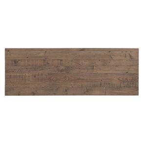 Meuble TV industriel en bois recyclé naturel gris 1 tiroir - Empreintes - Visuel n°9