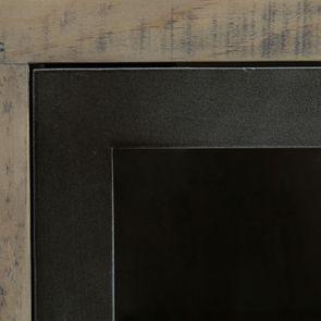 Bibliothèque industrielle en bois recyclé naturel grisé - Empreintes - Visuel n°11