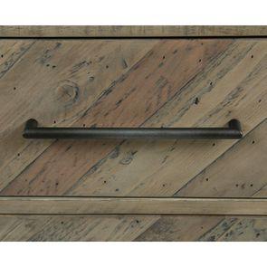 Bibliothèque industrielle en bois recyclé naturel grisé - Empreintes - Visuel n°13