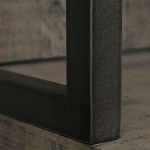 Bibliothèque industrielle en bois recyclé naturel grisé - Empreintes - Visuel n°14