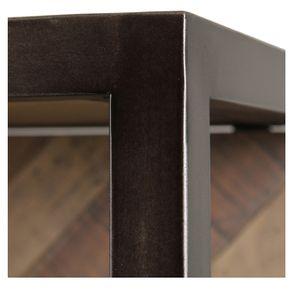 Bibliothèque industrielle en bois recyclé naturel grisé - Empreintes - Visuel n°15