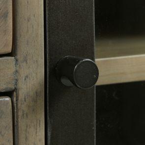 Bibliothèque industrielle en bois recyclé naturel grisé - Empreintes - Visuel n°16