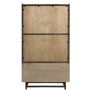 Bibliothèque industrielle en bois recyclé naturel grisé - Empreintes - Visuel n°9