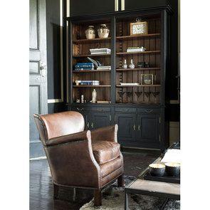 Bibliothèque noire en acacia massif - Cénacle - Visuel n°3