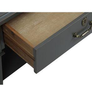 Table basse rectangulaire 4 tiroirs gris nuancé - Cénacle - Visuel n°11