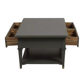 Table basse rectangulaire 4 tiroirs gris nuancé - Cénacle - Visuel n°2