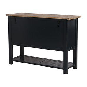 Commode bleue 5 tiroirs en bois recyclé - Rivages - Visuel n°10