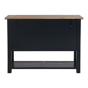 Commode bleue 5 tiroirs en bois recyclé - Rivages - Visuel n°11