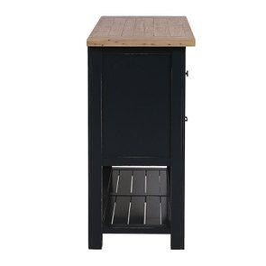 Commode bleue 5 tiroirs en bois recyclé - Rivages - Visuel n°8