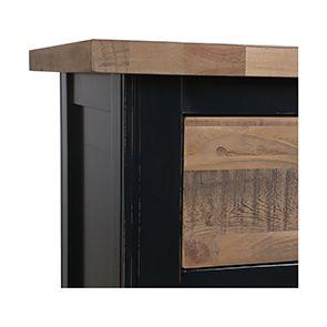 Cabinet de rangement bleu en bois recyclé - Rivages - Visuel n°11