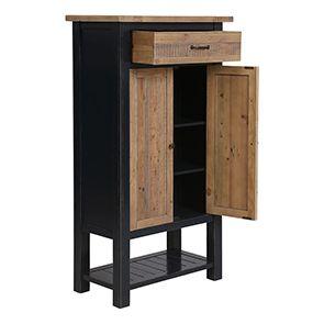Cabinet de rangement bleu en bois recyclé - Rivages - Visuel n°3