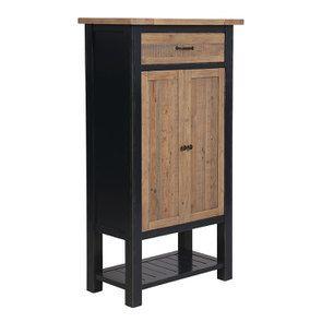 Cabinet de rangement bleu en bois recyclé - Rivages - Visuel n°4