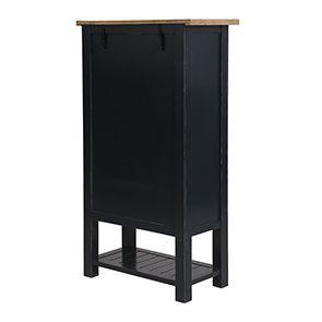 Cabinet de rangement bleu en bois recyclé - Rivages - Visuel n°5