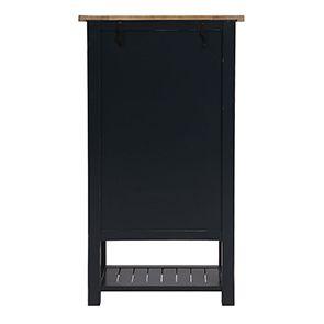 Cabinet de rangement bleu en bois recyclé - Rivages - Visuel n°6