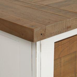 Buffet bas 4 portes 4 tiroirs en bois recyclé - Rivages - Visuel n°10