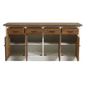 Buffet bas 4 portes 4 tiroirs en bois recyclé - Rivages - Visuel n°2