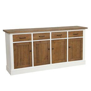 Buffet bas 4 portes 4 tiroirs en bois recyclé - Rivages - Visuel n°4