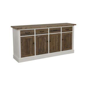 Buffet bas 4 portes 4 tiroirs en bois recyclé - Rivages - Visuel n°3