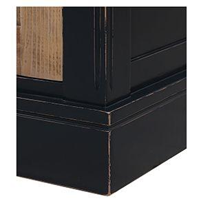 Buffet bas 4 portes 4 tiroirs en bois recyclé bleu - Rivages - Visuel n°4