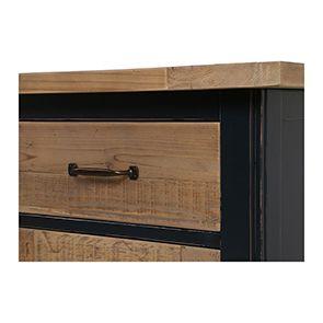Buffet bas 4 portes 4 tiroirs en bois recyclé bleu - Rivages - Visuel n°5