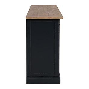 Buffet bas 4 portes 4 tiroirs en bois recyclé bleu - Rivages - Visuel n°11