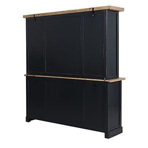 Buffet vaisselier 4 portes vitrées en bois recyclé bleu - Rivages - Visuel n°8