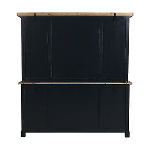 Buffet vaisselier 4 portes vitrées en bois recyclé bleu - Rivages - Visuel n°9