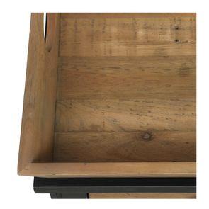 Bout de canapé bleu 1 tiroir en bois recyclé - Rivages - Visuel n°3