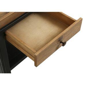 Bout de canapé bleu 1 tiroir en bois recyclé - Rivages - Visuel n°5