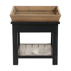 Bout de canapé bleu 1 tiroir en bois recyclé - Rivages - Visuel n°15