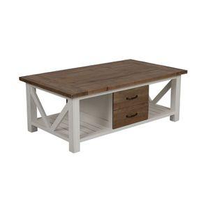 Table basse blanche rectangulaire avec rangement - Rivages - Visuel n°4