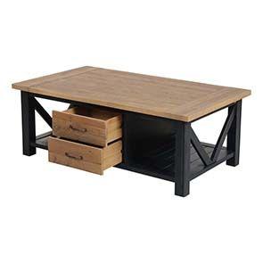 Table basse bleue rectangulaire avec rangement - Rivages - Visuel n°9