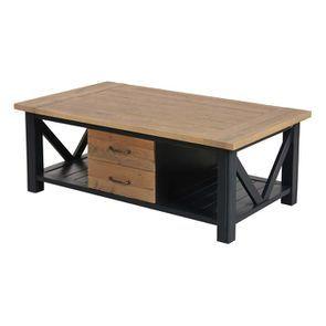Table basse bleue rectangulaire avec rangement - Rivages - Visuel n°3