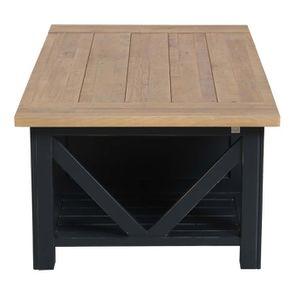 Table basse bleue rectangulaire avec rangement - Rivages - Visuel n°4