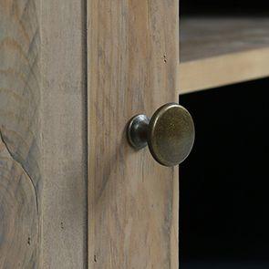 Meuble TV bleu avec rangements en bois recyclé - Rivages - Visuel n°3