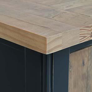 Meuble TV bleu avec rangements en bois recyclé - Rivages - Visuel n°5