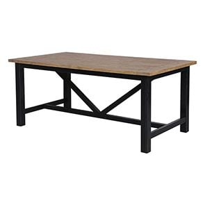 Table à manger rectangulaire bleue 6 à 8 personnes - Rivages - Visuel n°11