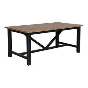 Table à manger rectangulaire bleue 4 à 6 personnes - Rivages - Visuel n°4